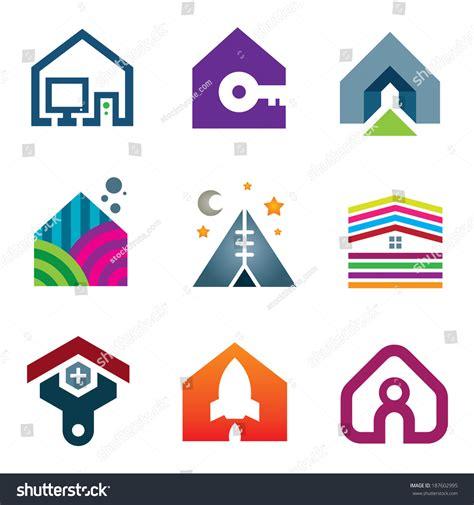 house beautiful logo beautiful modern house creative ideas construction stock