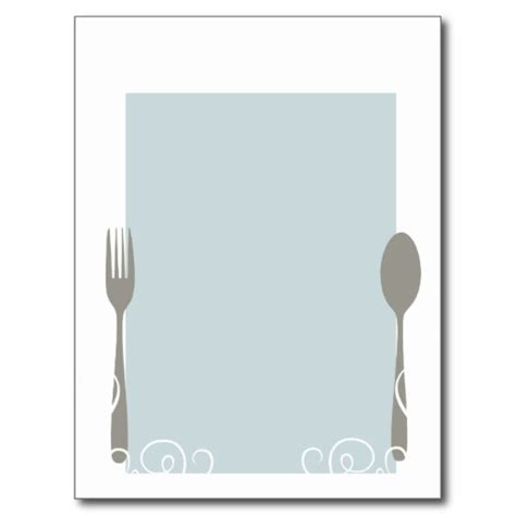 blank food menu template blank menu clipart best