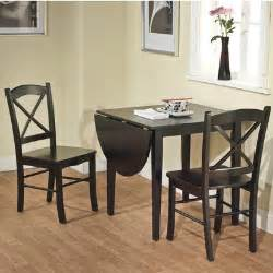 Style drop leaf dining set table transforms from square to half oval