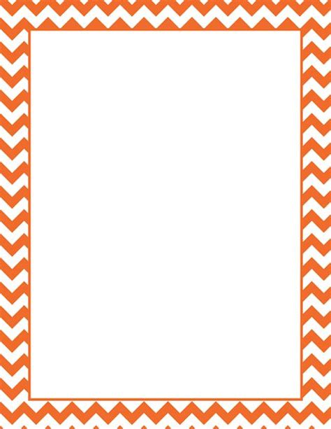 printable orange chevron border free gif jpg pdf and