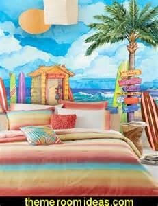Surfboard Comforter Beach Theme Bedroom Girls Surfing Beach Bedroom Decorating