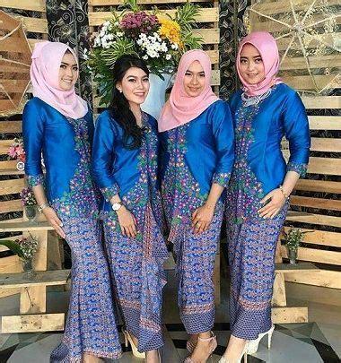 Setelan Kebaya Pengantin Duyung 30 model baju kebaya seragam keluarga untuk pernikahan