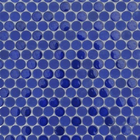Decorative Tiles For Kitchen Backsplash loft royal blue penny round jpg