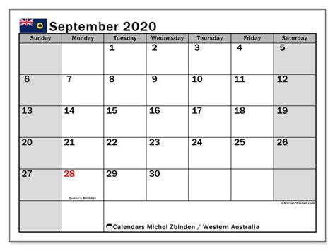 september  calendar western australia australia michel zbinden en