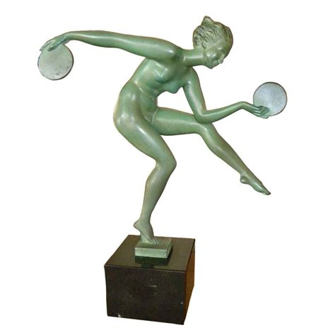 sculptures and figurines bringing art deco decorating art deco sculpture by derenne the disk dancer a