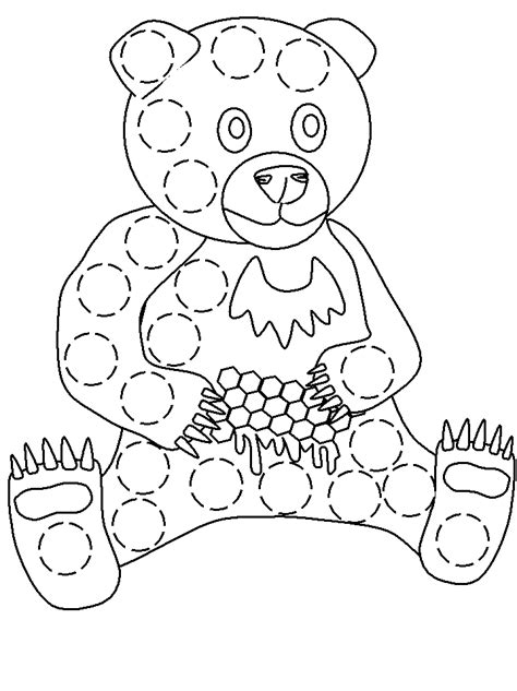 bingo dauber bear sheet bingo dauber art pinterest