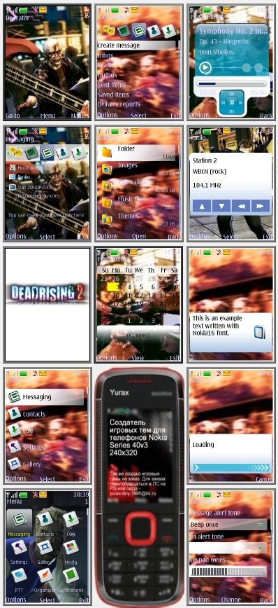themes nokia s40 240x320 dead rising 2 quot theme for nokia s40 240x320 quot by yurax v2