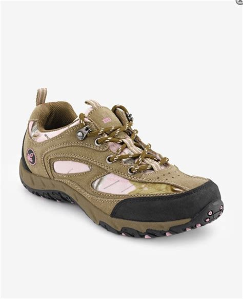 realtree womens hiker suede pink camo camouflage