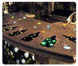 Glass Chips For Concrete Countertops by How To Use Glass In Decorative Concrete Countertops