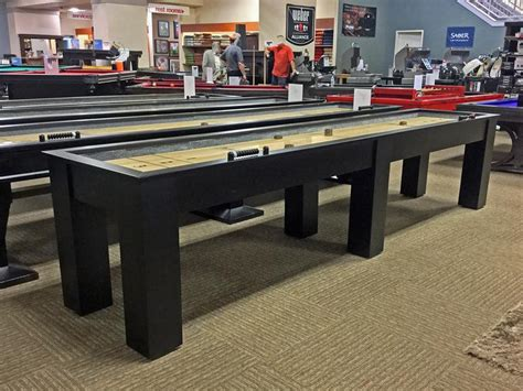 plank and hide shuffleboard table plank and hide parsons shuffleboard table robbies billiards