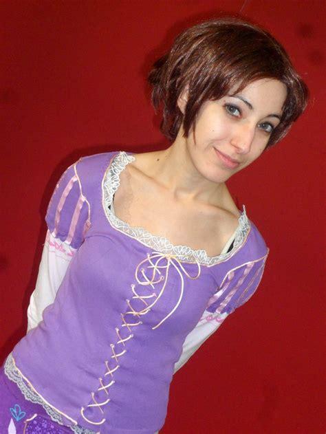 rapunzels short haircut tangled rapunzel short hair tangled rapunzel cosplay