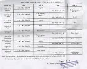 grade 9 final exam time table 2013 examination timetable