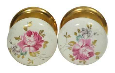 Gainsborough Knobs by Pair Of Vintage Floral Leaf Ceramic Gainsborough Knobs