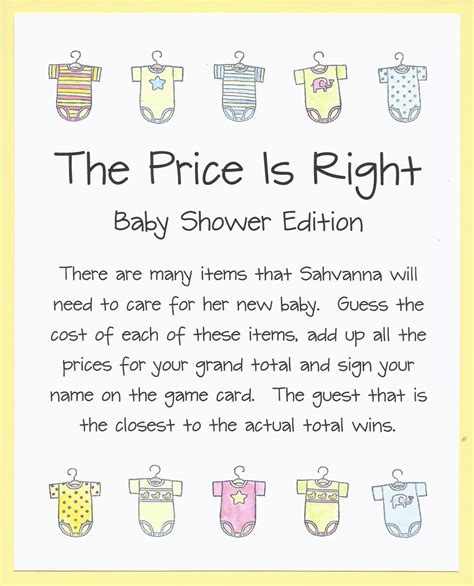 The Price Is Right Baby Shower by The Price Is Right Baby Shower Onesie Baby By