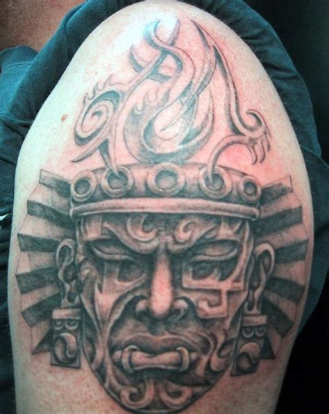 african mask tattoo designs warrior masks aztec sleeve designs