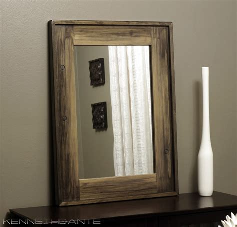wood framed mirrors rustic milwaukee by kennethdante