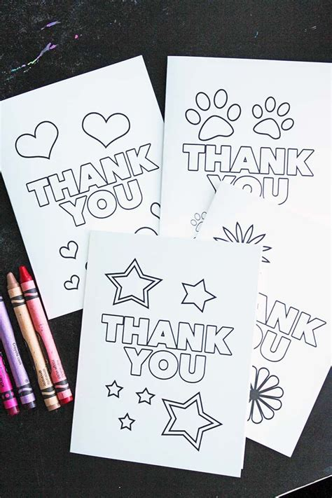 free printable thank you cards upload picture free printable thank you cards for kids to color send