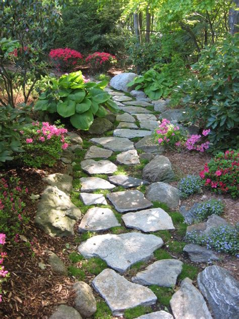 Backyard Stepping Stones by Stepping Walkway Garden Path Traditional