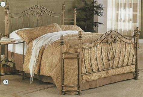 metal bed headboard footboard new queen or full size gold finish iron metal headboard