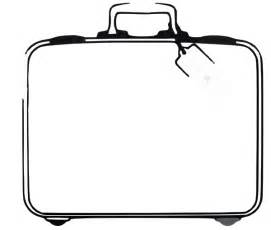 suitcase clipart black and white clipart free download