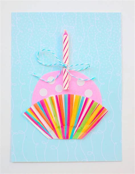 Paper Craft Home Decor by Cute Cupcake Diy Birthday Card Diycandy Com