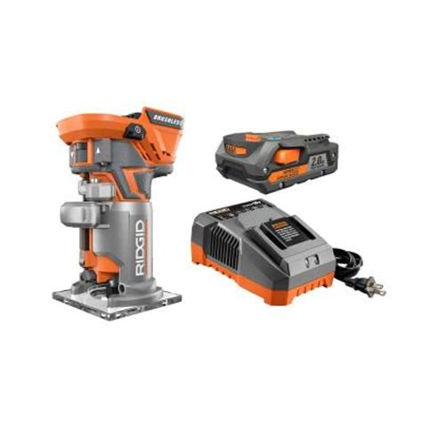 ridgid 18 volt brushless compact router kit from home