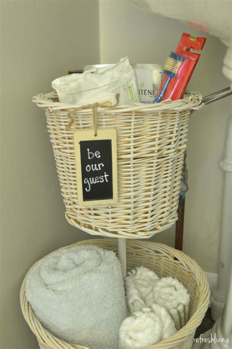 diy bathroom baskets diy bathroom storage from old baskets refresh living