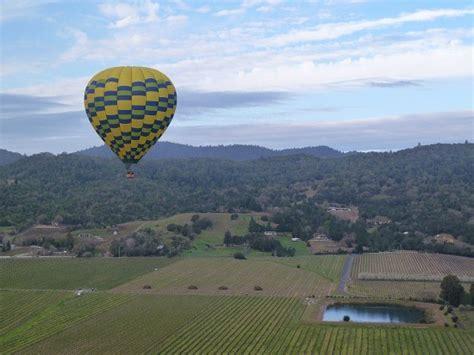 hot air balloon ride napa valley california