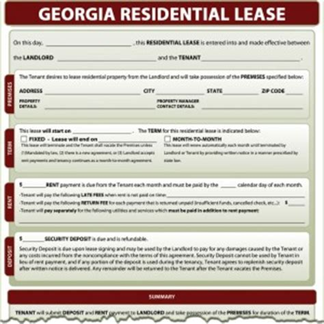 Rental Agreement Letter Ga Lease