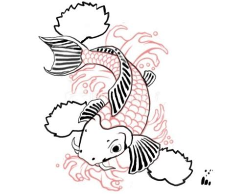 Drawing Koi Fish by Free How To Draw Koi Carp Coloring Pages