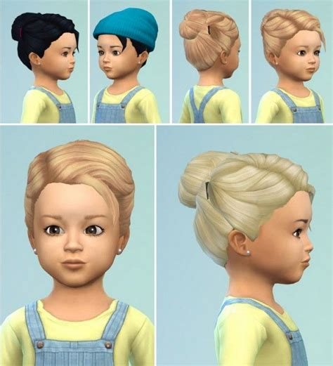 hair bun download birkschessimsblog toddlers hair bun with clips sims 4