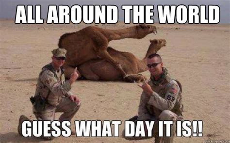 Meme Hump Day - all around the world guess what day it is meme image