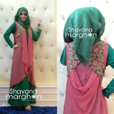 Gamis Muslim Payung Busui Jersey Maxi Dress Klok Motif Murah 2 shavana marghon brukat prada jersey jeruk cardi sifon