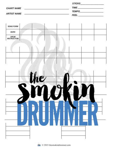 drum template blank drum chart with drum notation staffs one 4 bars and