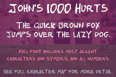 dafont license john s 1000 hurts font dafont com