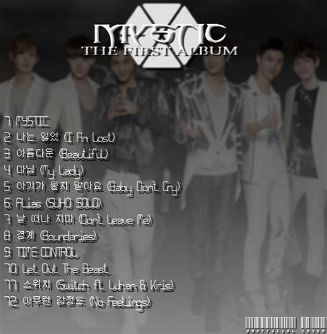 exo album list exo 1st album tracklist by exoticgeneration21 on deviantart