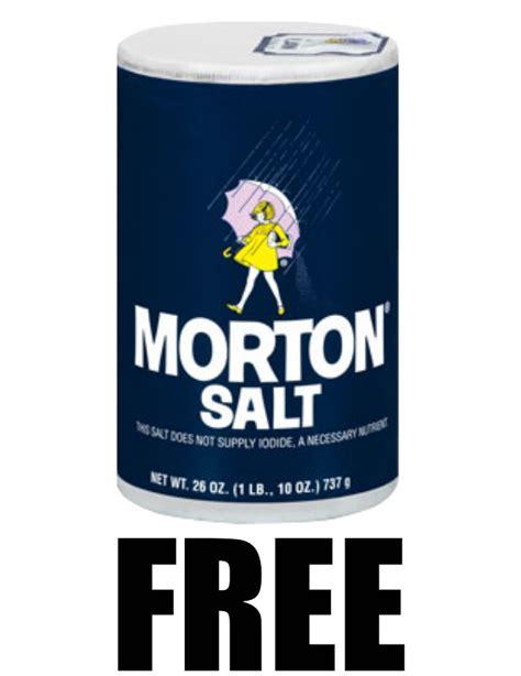 Morton Iodized Salt 737gr free 26 oz container of morton plain or iodized table salt