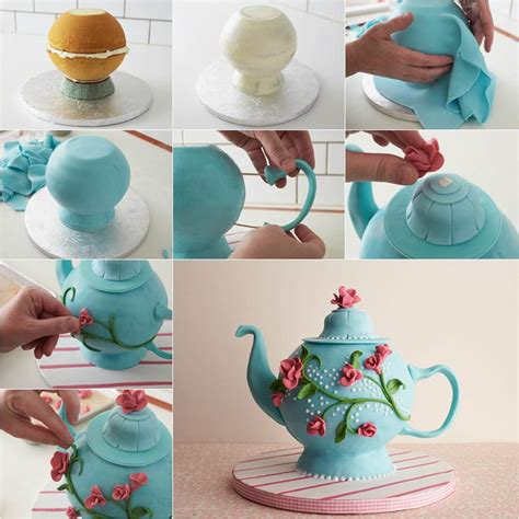 diy beautiful teapot cake