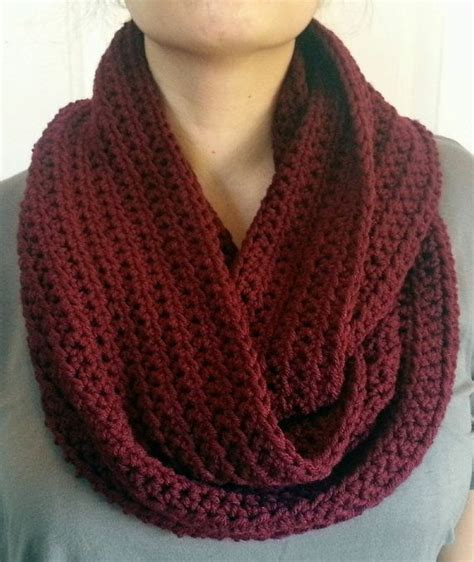 maroon infinity scarf crocheted color choice on etsy 12