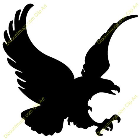 eagle clipart black eagle 12077