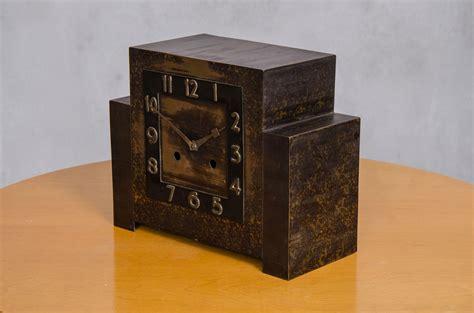 deco table clock deco copper table clock 1920s for sale at pamono
