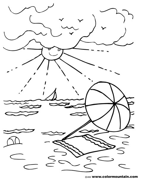 summer fun coloring pages coloringsuite com