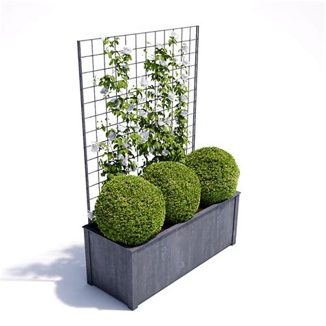 planter with trellis garden requisites steel planters troughs