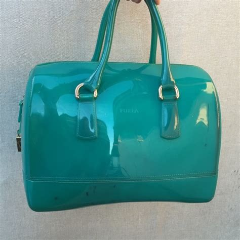 Furla Jelly Bag Preloved 88 furla handbags furla bag jelly tote blue purse from no trades holds s