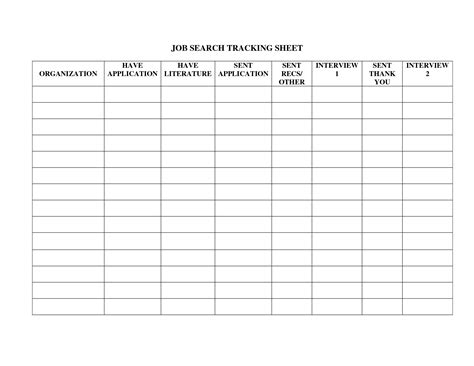 best photos of job tracking sheet job search tracking
