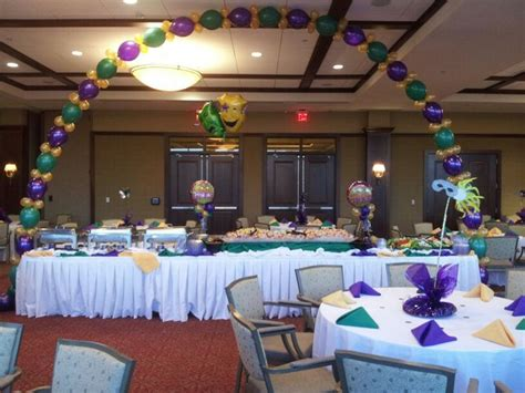 mardi gras 2014 food buffet table party decorations from