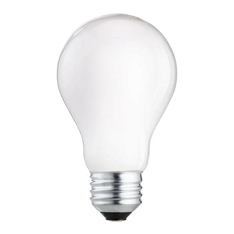 Light Bulb Brightness by 60 Watt Equivalent Halogen A19 Light Bulb 4