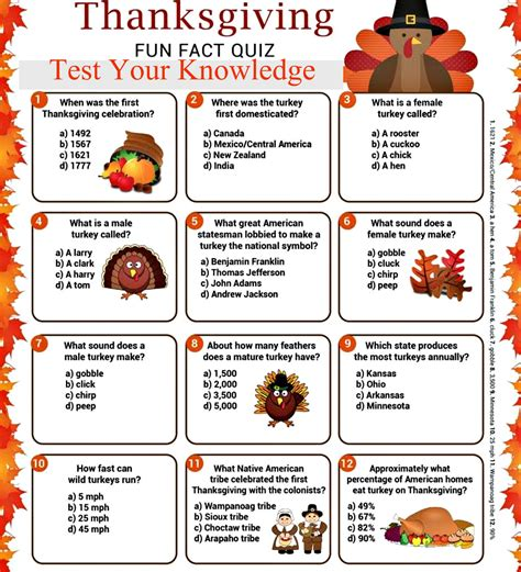 printable thanksgiving quiz with answers thanksgiving quiz to dazzle your family and friends