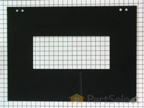 Whirlpool Stove Glass Door Replacement Whirlpool Wpw10200754 Exterior Door Glass Black Partselect Ca