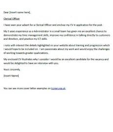 cover letter for a clerical officer cover letters and cv